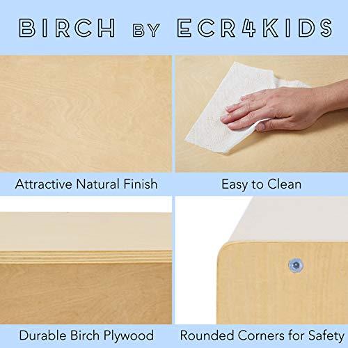 ECR4Kids Birch 2 Shelf Storage Cabinet with Back, Wood Book Shelf Organizer/Toy Storage for Kids, Natural