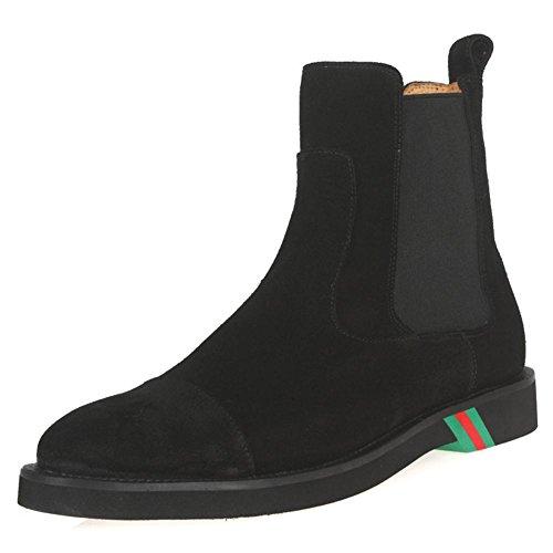 Hombres Botas Zapatos Ante Ponerse Cómodo Ligero Negro Soltero marrón Casual Moda Mocasín para Hombres Trabajo Fiesta tamaño 38-45 black