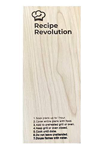 Grilling Plank Set w/Recipes, Cedar, Oak Cherry Wood Planks Grilling Salmon, Fish, BBQ Smoking, Set of 3 (Cherry)