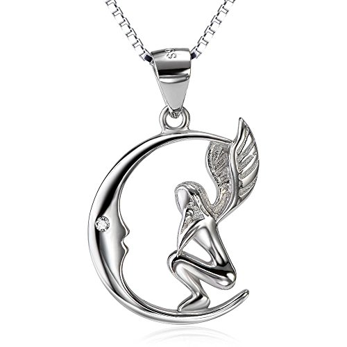 925-Sterling-Silver-Fairy-with-Angel-Wings-Face-to-Moon-Pendant-Necklace-For-Women18