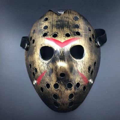 [Fashion Cosplay for Halloween Masquerade Carnival Party Prom Carnival Mask ( Killer Gold with Red)] (New Blood Jason Costume)