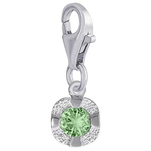 Rembrandt Charms, Petite Mini August Stone with Clasp.925 Sterling ()