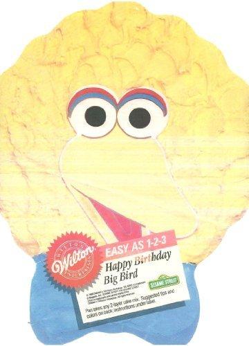 - Wilton 1 2 3 Cake Pan: Sesame Street's Big Bird with Bow Tie (2105-9407, 1988)