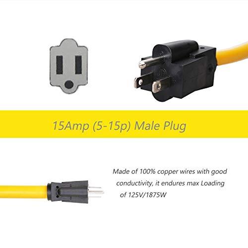 Trek Power RV Power Cord Dogbone RV Power Adapter with Handle 12'' 10AWG/3 Cord (15M50F) by Trek Power (Image #1)