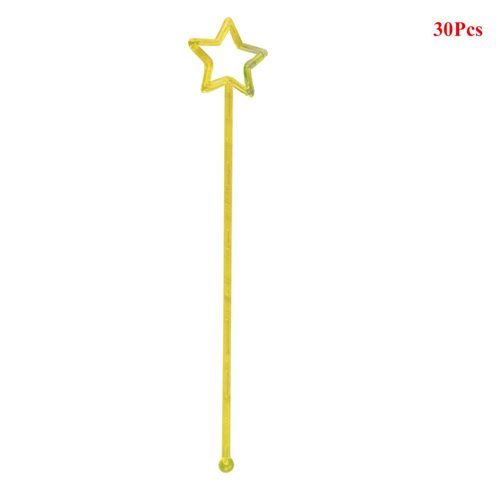 Wine Lzttyee 30pcs Acrylic Hollow Star Design Cocktail Drink Stirrers Swizzle Sticks for Juice Transparent Coffee Milk Tea