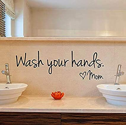 Amazon Com Imprinted Designs Wash Your Hands Love Mom Quote