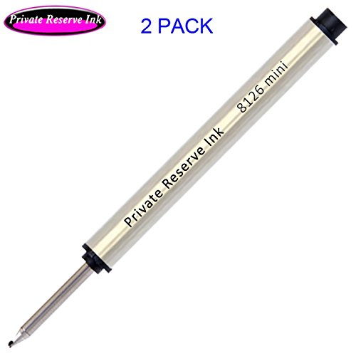 2 Pack - Private Reserve 8126 mini Capless Rollerball - Black Ink (Ball Mini Refill Roller)