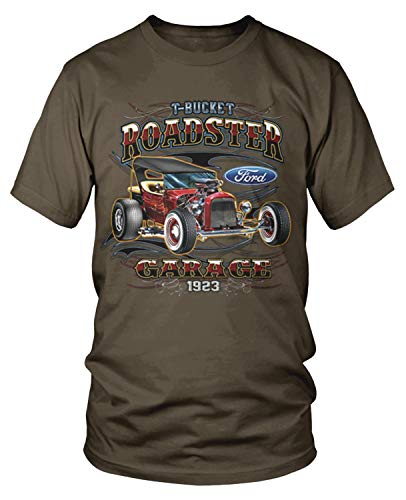 - Amdesco Men's 1923 Ford T-Bucket Roadster T-Shirt, Dark Chocolate Small