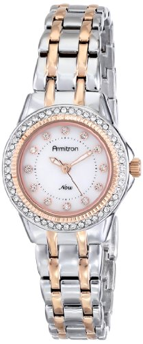 Armitron Women's 75/5194MPTR Swarovski Crystal Accented Two-Tone Bracelet Watch