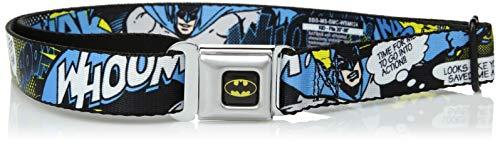 Buckle-Down Men's Seatbelt Belt Batman Kids, Scene, 1.0