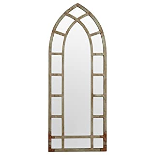 Stone & Beam Modern Arc Metal Frame Hanging Wall Mirror Decor, 46.25 Inch Height, Silver Finish (B073WGSN2Q)   Amazon Products