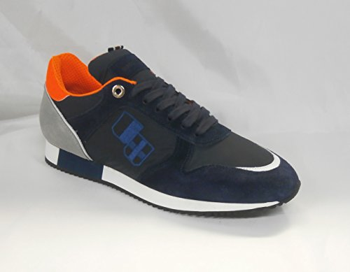 D'acquasparta Sneaker In Pelle Cosimo U700bp Blu perla Made Italy Nr 42