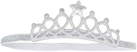 Baby Girl Shiny Princess Tiara Hair Band Headband Kids Elastic Crown HeadwearDIU
