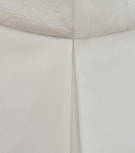 "Lux Hotel Bedding Tailored Bed Skirt, Classic 14"" Drop Length, Pleated Styling, Full, White"