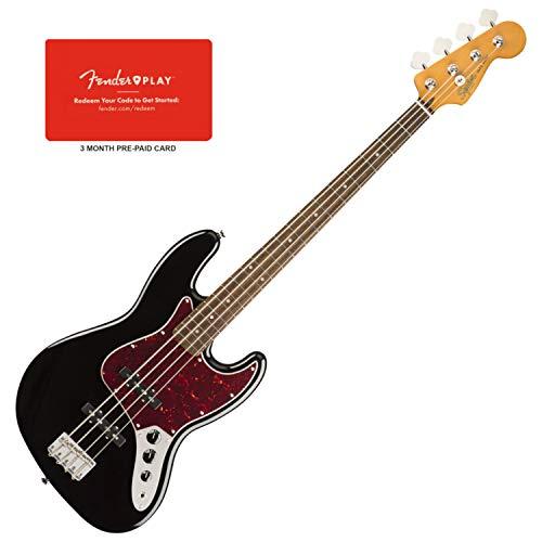 Squier 0374530506 Classic Vibe 60s Jazz Bass, Laurel Fingerboard, Black - Classic Bass Guitar Jazz 60s
