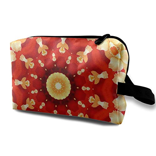 Yunshm Abstract Art Background Orchid Kaleidoscope Personalized Cosmetic Storage Bag Waterproof Woman for Travel Carry Bag