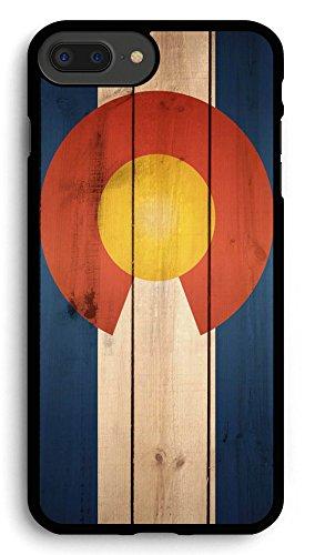 Colorado Flag US State Wood iPhone 7PLUS /8 Plus Case,PC Hard Case for iPhone 7PLUS /8 Plus