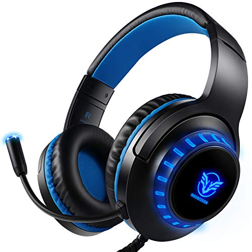 Ifmeyasi LED Gaming Headset for Xbox One S, Xbox One X,PS4 Slim,PS4 Pro,Nintendo Switch, 3.5mm Game Headset Over-Ear Stereo Headphones Noise Cancelling with Micophone
