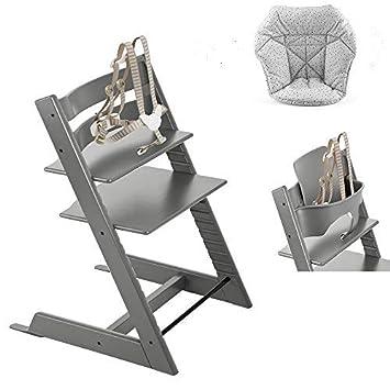 Amazon.com: Stokke Tripp Trapp con Set de bebé, Storm gris ...