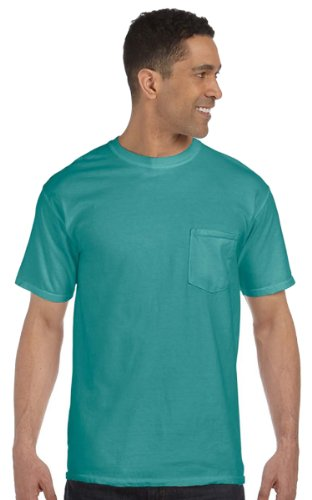 Comfort Colors Womens 6.1 oz. Garment-Dyed Pocket T-Shirt (6030CC) -SEAFOAM -L Comfort Colors 100% Garment
