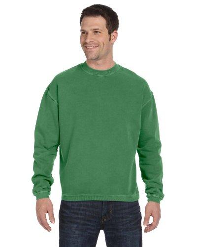 Authentic Pigment 11 Oz. Pigment-Dyed Ringspun Cotton Fleece Crew (11561)- Clover,XX-Large