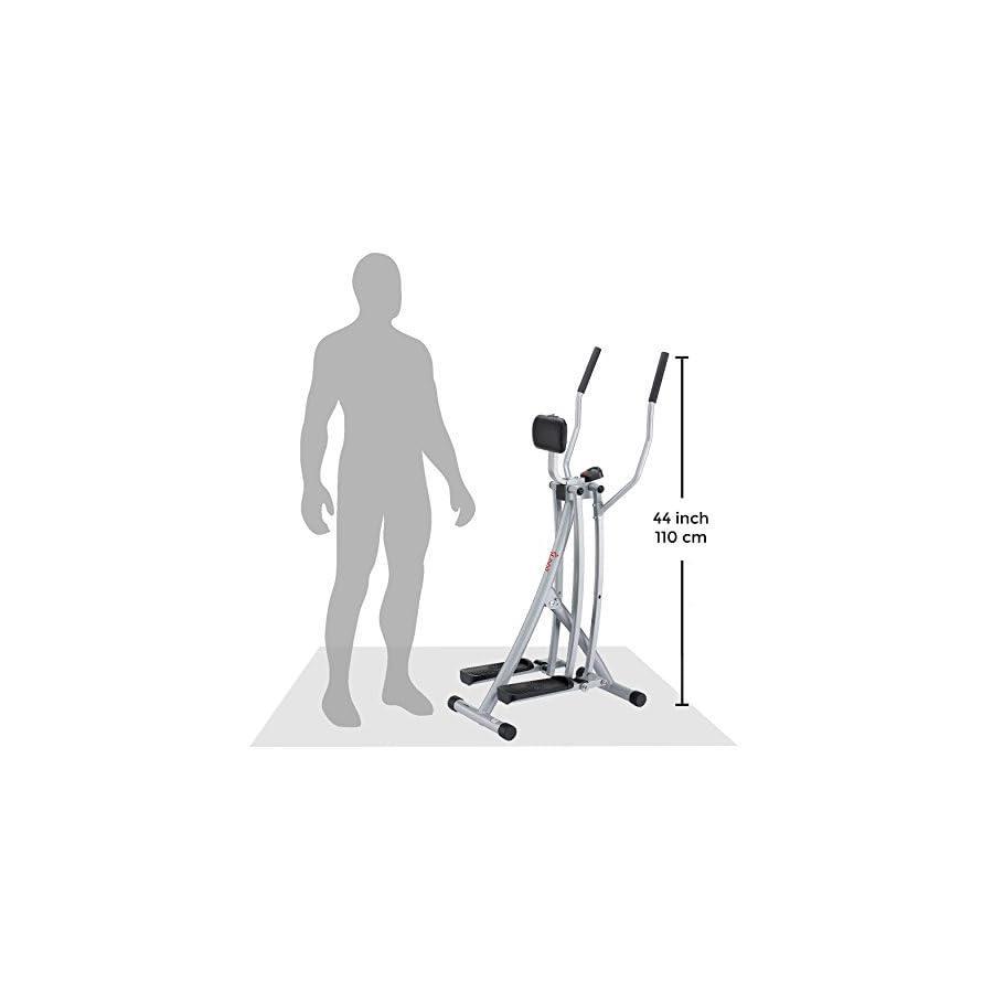 Sunny Health & Fitness SF E902 Air Walk Trainer Elliptical Machine Glider w/ LCD Monitor