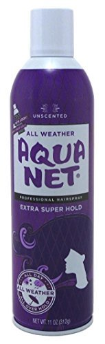 Aqua Net Extra Super Hold Professional Hair Spray Unscented 11 oz(Pack of 3) (Spray Net)