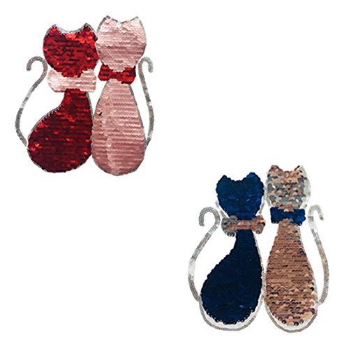 LAMEIDA Bordado Apliques de Ropa Parches Paillette Gato Ropa de Costura Placas de Pasta DIY Bolsa de Ropa Accesorios Decorativos