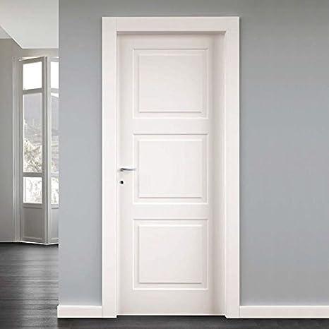 Porte interne in legno massello battente misure 80x210: Amazon.it ...