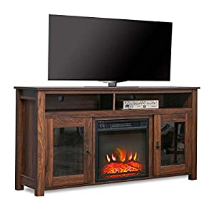 Top Space Electric Fireplace TV Stand Entertainment Center Corner Electric Fireplace Console Fireplace Heater for TVs up…