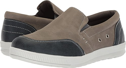 Deer Stags Boys' ABEL Sneaker, Grey/Blue, 5.5 M Medium US Big Kid