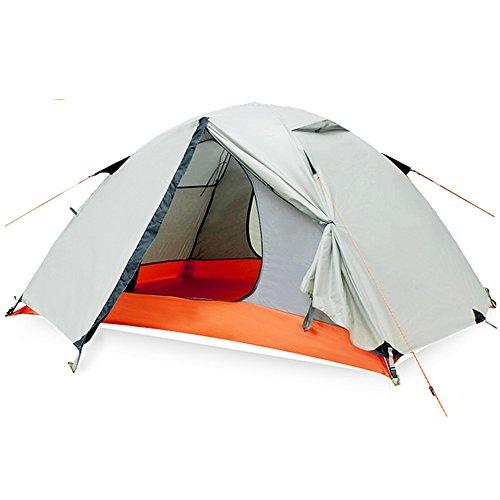 マインド運ぶお香QFFL zhangpeng テントダブルレイヤー超軽量フォーシーズンズテント屋外ダブルキャンプテントセット3-4ビーチテント2色オプションセット トンネルテント ( 色 : A , サイズ さいず : 1# )