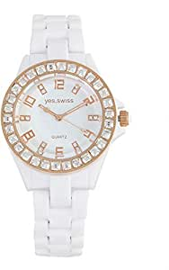 Yes Swiss Women's White Dial Plastic Band Watch [YS203.8673]