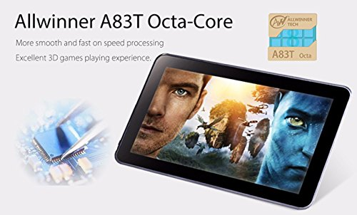 Hipo 10.1 Inch Tablet Octa Core Android 5.1 Tablet PC 1GB RAM /16GB ROM 1024X600 TN Screen Wifi HDMI Bluetooth 4.0 Dual Camera Micro USB by Hipo (Image #3)