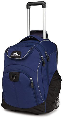 High Sierra Powerglide Wheeled Laptop Backpack, True Navy/Black ()