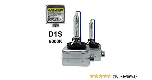 2x D1S 8000K HID XENON PAIR Two REPLACEMENT BULB Lamp Bright Blue Light x2 DS1