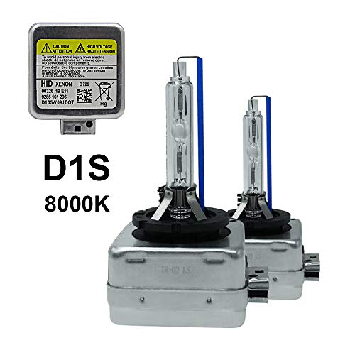 - D1S - 8000K - 35W Xenon HID Headlight Replacement Bulbs, Dinghang High And Low Beam Hid Headlights (2pcs) (D1S, 8000K)