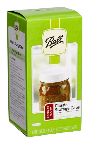 Ball Regular Mouth Jar Storage Caps Set of 8 (Small Plastic Mason Jars)