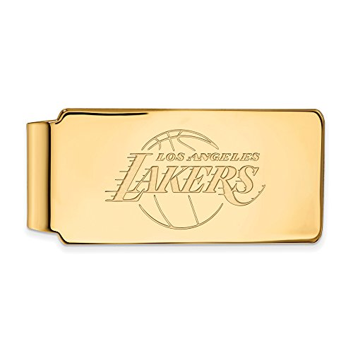 NBA Los Angeles Lakers Money Clip in 14K Yellow Gold by LogoArt