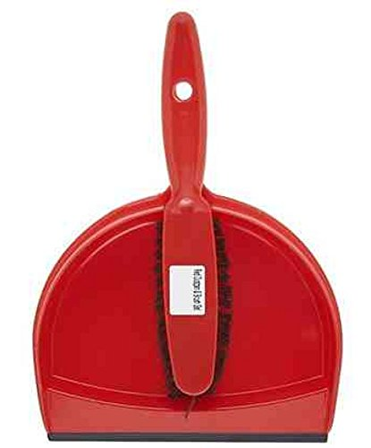 The Hill, hn071-r Set scopa e paletta in plastica, colore: rosso The Hill Brush
