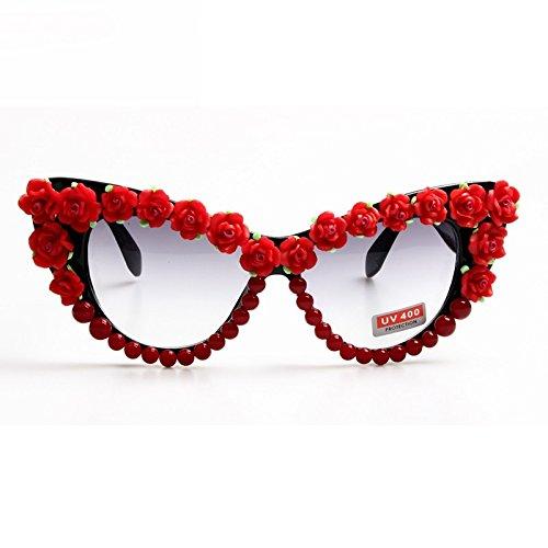 TL-Sunglasses Occhiali da sole delle donne di strada del fiore di rosa indietro Occhiali da sole Occhio di gatto bicchieri per il Signore 0MgLq4A
