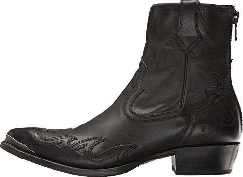 Frye Mens Lou Overlay Black Pressed Full Grain