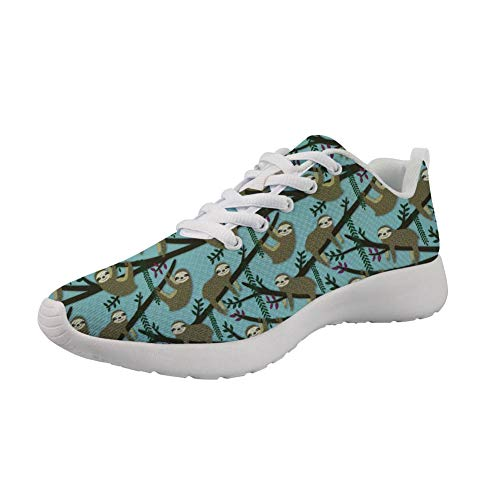 Sneaker Walking Running Shoes Sport Funny Sloth Outdoor Lightweight Women's Showudesigns qfY0pxx