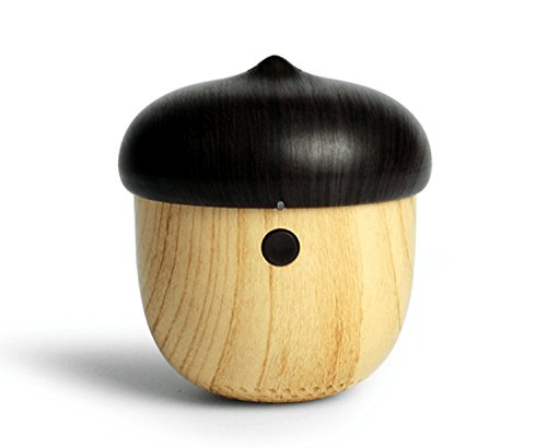 Nut Converter - TOMROW Bluetooth Speaker, Cute Wooden Nut Shape Mini Wireless Portable Speakers with Mic Works for Phone Pad and Other Music Player
