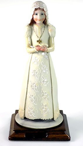 - First Communion Girl Capodimonte Dear Sculpture Made In Italy