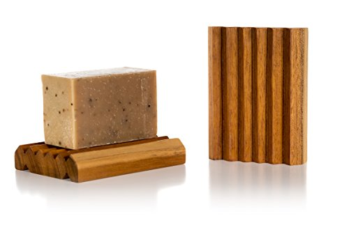 Premium Teak Soap Dish Straight- Natural Soap Dish Handcrafted of Teak Wood (Farm Soap Dish)