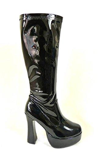 60 donna stile anni 36 Stivali e 11827 38 retro taglia Patent nbsp;diversi Go da per 39 40 41 35 70 party Go 37 modelli Black 58wwqzcrE