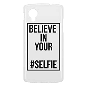 Loud Universe Nexus 5 Believe In Your Selfie Print 3D Wrap Around Case - White/Black