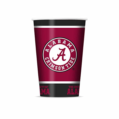 NCAA Alabama Crimson Tide Disposable Paper Cups, Pack of - Crimson Cups Tide Alabama
