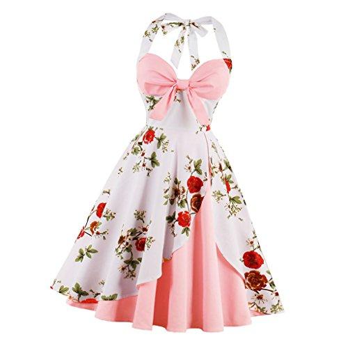 Chiaro Rosa Gonna Vintage Morbido Abito Da Partito Balla Costumi Donne Prettyia P8OvmNw0yn